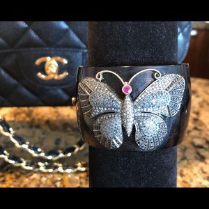 custom Jewelry - Butterfly black diamond Cuff